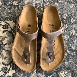 NWT Birkenstock Gizeh tabacco brown sandals